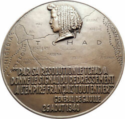 1944 French Equatorial Africa And Chad Governor General Felix Eboue Medal I80594