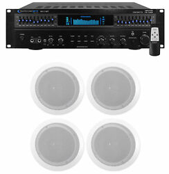 Technical Pro Rx113 Home Theater Amplifier Receiver+4 6.5 Ceiling Speakers