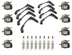 Ignition Wires 8 Coils 8 Spark Plugs Kit Acdelco For Buick Rainier 2004 V8 5.3l