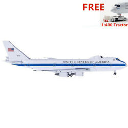 Very Rare1400gemini Jets United States Air Force E-4b 40787+free Tractor