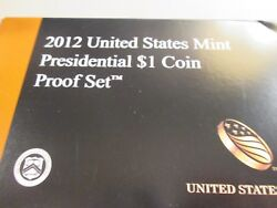 2012-s Us Presidential 1 Proof Set 4 Coin Set  Xb5