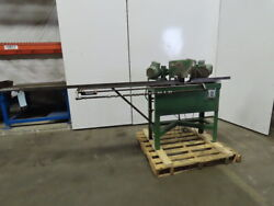 1hp 3ph 230/460v 8 Double Miter Notch Frame Saw 72 Runout And Quick Stop