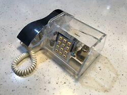Rare Vintage Mid Century Modern Lucite Chrome Telephone By Teleconcepts 460041