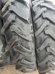 Two 13.6x38 13.6-38 8 Ply Ford-new Holland 7635 Tube Type Tractor Tires