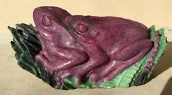 Ruby And Zoisite Frogs 4 1/2