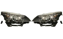 Pair Set Of Left And Right Genuine Halogen Headlights Lamps For Bmw E60 5-series