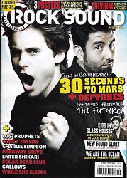 Rock Sound Magazine 30 Seconds To Mars Kids In Glass Houses New Found Glory 2011