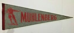 Muhlenberg College Mules College Football 1950and039s Vintage Pennant Mint