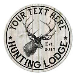 Your Name Personalized Hunting Lodge Rustic 14 Wood Sign Wall B3-00140004001