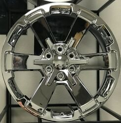 Fits 22 Ck162 Rally Chrome Nitto Tire Wheel Package Rims For Silverado Tahoe