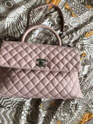 CHANEL Chanel Coco handle thin pink shoulder bag chain (P131