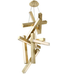 Modern Forms Pd-64849-ab Chaos Led 25 Inch Aged Brass Chandelier Ceiling Light