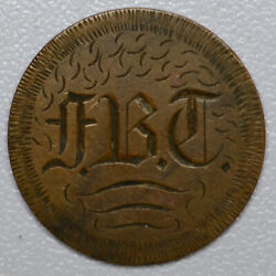Love Token Engraved Fbc Old English On 1887 Indian Head Penny Cent 1c