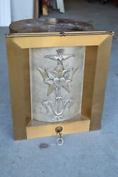 + Vintage In Wall Style Tabernacle + With Key + Chalice Co. Sp39