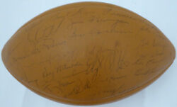 1968 Packers Autographed Signed Football 47 Sigs Bart Starr Beckett A64131