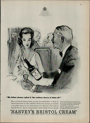 1959 Harveyand039s Bristol Cream The Noblest Sherry Of Them All Print Ad 2232