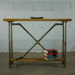 Houston Industrial Vintage 2-tier Pipe Console-sofa Hall Table - Etagere Meta...