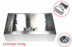 36 Stainless Steel Farm Apron Flat Front Kitchen Sink