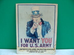 1970s Vietnam Era Us Army Uncle Sam I Want You Recruiting Poster Fond Du Lac Wis