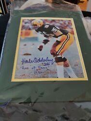Packers Herb Adderly Autographed Color Photo