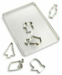 Martha Stewart Collection 7pc Cookie Sheet And Cutter Set With Recipes.
