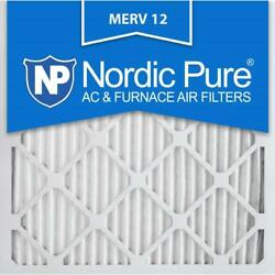 Nordic Pure 10x10x1 Allergen Pleated Merv 12 - Fpr 9 Air Filters 3-pack