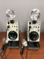Lot Of 2 General Radio 1538-a Strobotac + Extension Lamp Only 2 Bulbs Included