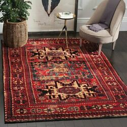 Traditional Oriental Tribal Distressed Red Area Rug Free Shipping