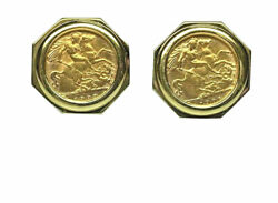 Great Britain 1/2 Sovereign Coin Cuff Links Idwlg109iml