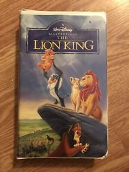 Walt Disney The Lion King Vhs 1995 Collectible Clamshell Rare