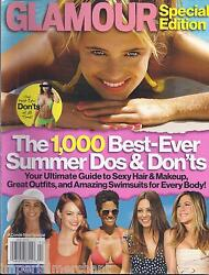 Glamour Magazine Ultimate Guide Sexy Hair Makeup Great Outfits Best Swimsuits