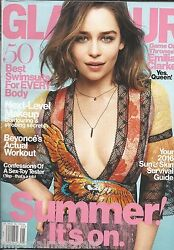 Glamour Magazine Emilia Clarke Beyonce Workout Sun And Skin Tips Best Swimsuits