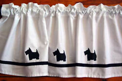 Scottish Terrier Scottie Dog WIndow Valance or Shower Curtain color choices