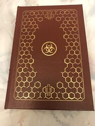 Rare Andromeda Strain Leather Bound Signed Book Michael Crichton 419 Of 500