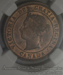 Canada 1c One Cent 1881 H Ms64 Rb Ngc Km7 Ddo Error Mixed Font Double Legend