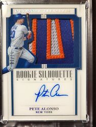 2019 National Treasures Pete Alonso Rookie Silhouette On Card Auto 01/10 Mets