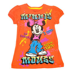 Official Disney Youth Kids Girls Too Cool Minnie Mouse Puff Sleeve Shirt  $12.38