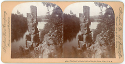 Stereo Keystone View Company B. L. Singley The Devil S Chair Dells Of The St