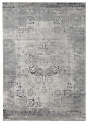 United Weavers Grey Transitional Casual Faded Bulbs Area Rug Bordered 4520 10172