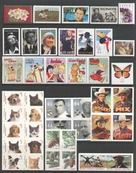 2010 U.s. Commemorative Year 72 Stamps Set With Two Sheets And Flags Mint-nh