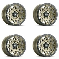 Set 4 20 Dirty Life 9305 Theory Matte Gold Lifted Truck Wheels 20x9 5x5 0mm