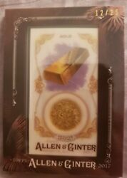 2017 Topps Allen And Ginter Framed Mini Gems And Ancient Fossil Relic Gafg Gold