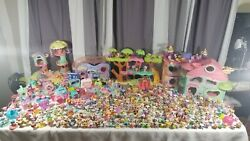 HUGE Lot of Hasbro Littlest Pet Shop LPS 300+ Pets Playsets & Accessories