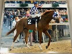 Secretariat Signed 16x20 Belmont Stakes Photo Glossy Signed