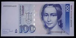 •german Federal 100 Mark Banknote, 1993year,good Condition