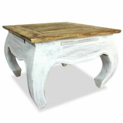 Antique Wooden Coffee Table Square Reclaimed Side End Table Handmade Rustic