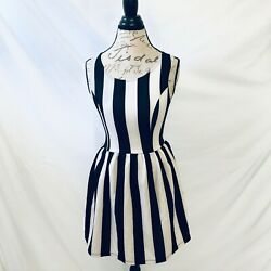 PACSUN Black and White Striped Skater Dress *NWT*