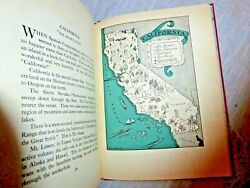 Vintage 50 Cartoon Maps Tx Ca Nv Az Ny Picture Map Of Geography Quinn 1931 Rare