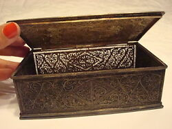 Antique 18th Century Middle Eastern Silver Filigree Box