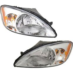 Halogen Headlight Set For 2000-2007 Ford Taurus Left And Right W/bulbs Pair Capa